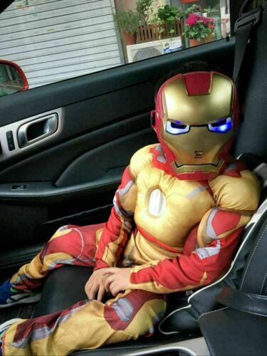 XMAS Costume For Kids Deluxe Iron Man Jumpsuit Boys Cosplay Fancy Dress