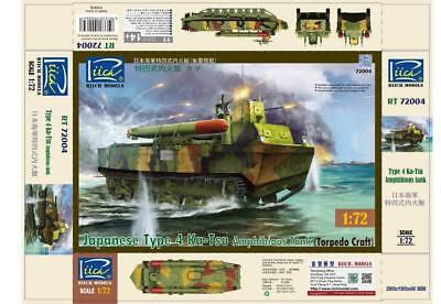 Riich 1//72 RT72004 Japanese Type 4 Ka-Tsu Amphibious Tank Torpedo Craft