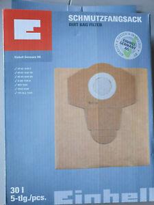 5 Staubsaugerbeutel passend für Einhell 23.511.70 30 L