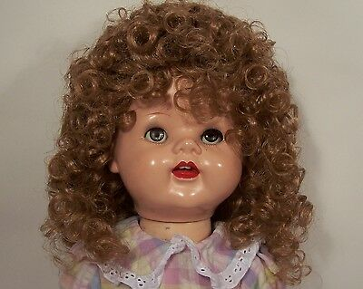"CARROT RED Hilary Doll WIG Size:14-15 For 22/"" Saucy Walker Dolls DEBs"