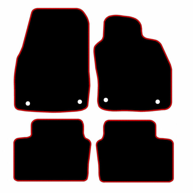 Vauxhall Astra H MK5 2004 TO 2009 Tailored Car Mats - Black With Red Trim