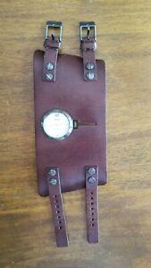DIESEL-Men-039-s-Wrist-watch-Brown-Genuine-Leather