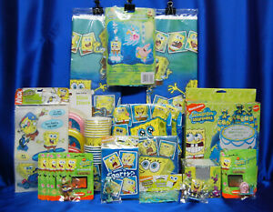 SpongeBob Party Plates Cups Napkins Tablecover Balloons Invitations Party Bags