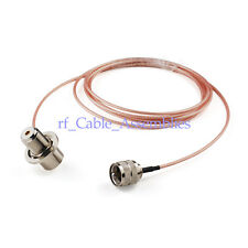 5M UHF PL259 male to SO239 female bulkhead RA Pigtail cable For CB Walkie Talkie