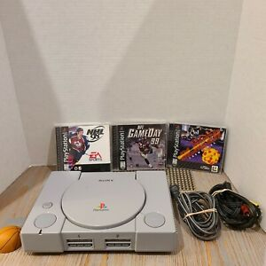 PS1-Playstation-1-One-System-SCPH-7501-Tested-w-3-Games-Cords-Memory-Card