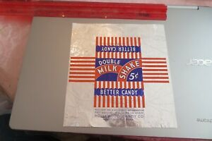 VINTAGE OLD candy bar wrapper Hollywood 1920's Double Milk Shake Minneapolis