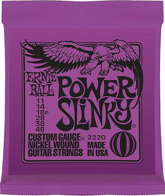 12 SETS! Ernie Ball Power Slinky 11-48 Strings 2220 Free pegwinder & US Shipping