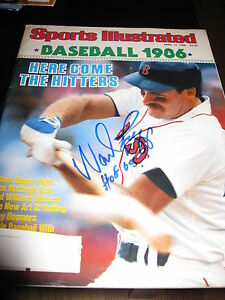 WADE-BOGGS-SIGNED-AUTOGRAPH-SPORTS-ILLUSTRATED-BOSTON-RED-SOX-YANKEES-IN-PERSON