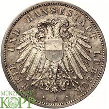 F99) J.82 LÜBECK 3 Mark 1914 A - Freie Hansestadt - Silber