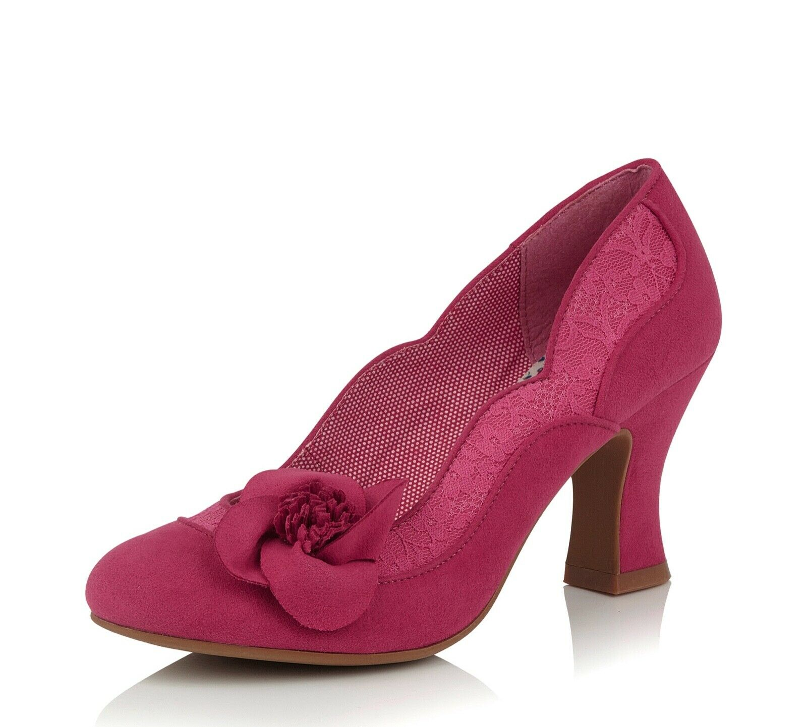 RUBY SHOO NEW Veronica Rose Fuchsia Talon Haut Mode Cour Chaussures Tailles 3-8