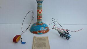 Vecchio antico giocattolo latta elicottero Arnold Spielwaren anni 50 originale