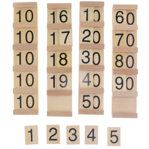 Kids Children Early Wooden Hundred Board Montessori Consecutive Numbers Blocks