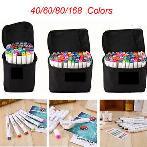 60/80/168 Color Dibujo Pintura Rotulador Base de Alcohol Touch Alcohol Twin Tip