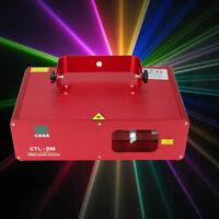 DMX 9CH RGB LED 310mW DJ Party Stadiums Disco Laser Licht Show Laserlicht Muster