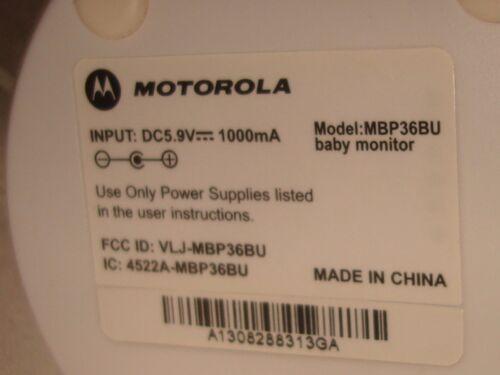 MOTOROLA MBP36BU BABY MONITOR CAMERA FOR MBP33//MBP36
