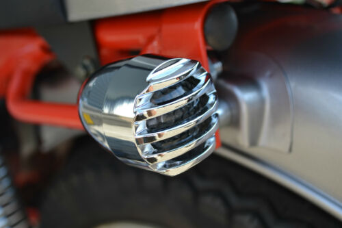 Motorbike LED Indicators For Cafe Racers /& Brat Bikes Prison Style Chrome Ally
