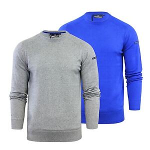 7d04022a5 Mens Jumper Duck & Cover Alloy Knit Crew Neck Soft Cotton Blend ...