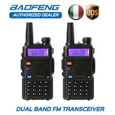 IT! 2x BaoFeng UV-5R VHF/UHF Dual Band Radio Ricetrasmittente Walkie Talkie