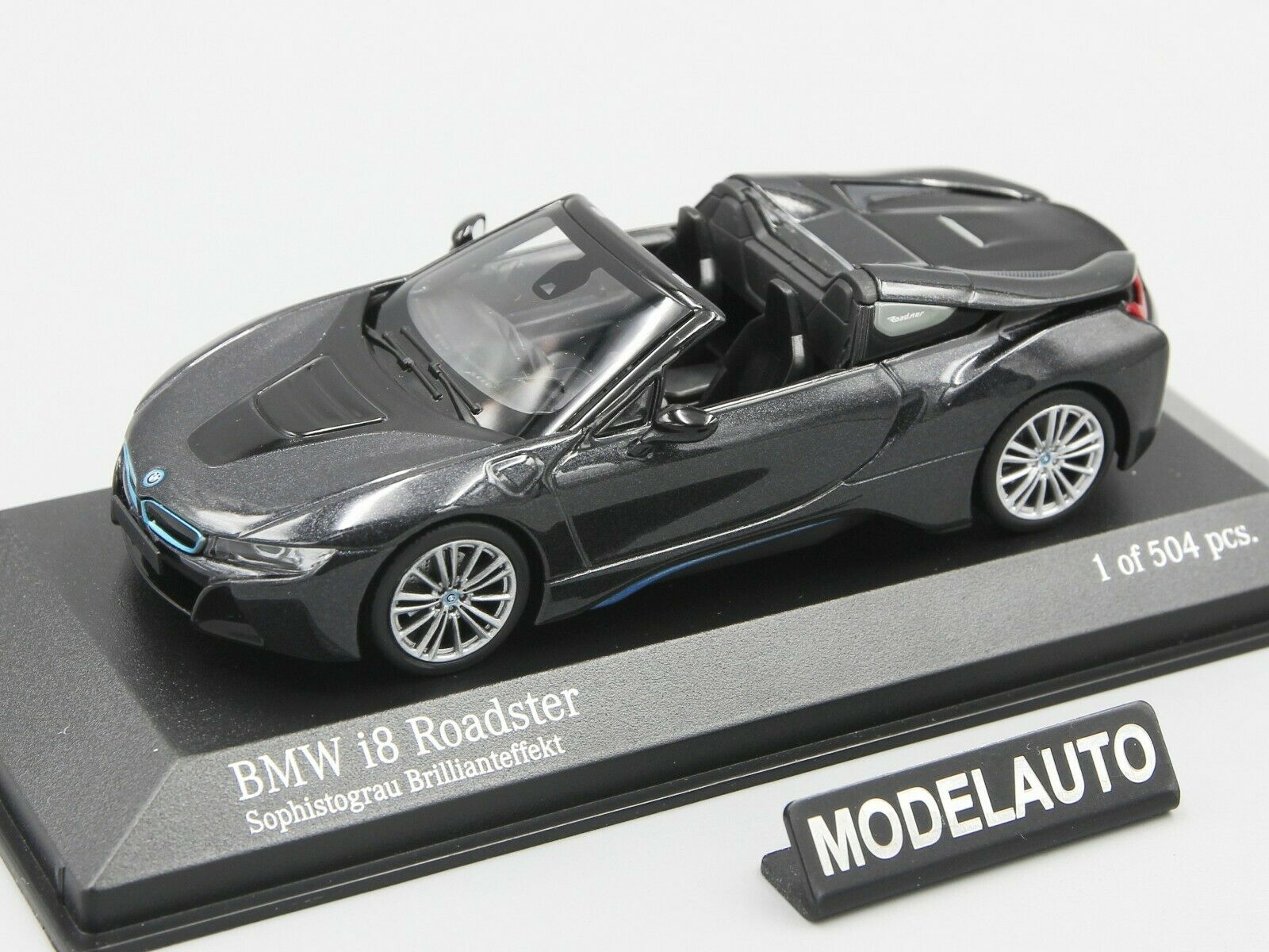 Minichamps 1 43 BMW I8 roadster (I15)  2017 2017 2017  grey metallic L.E. 504 pcs. 7309e3