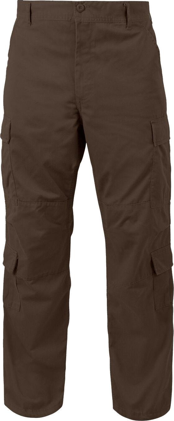 Brown Vintage Paratrooper Pants Tactical Military BDU Fatigues