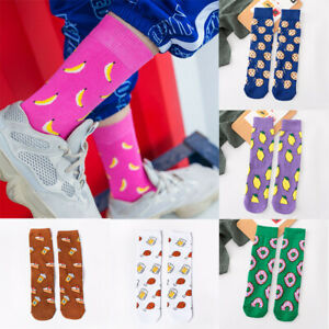 Socks-Cartoon-Fruits-Food-Cookie-Donuts-Funny-Men-Cute-Women-Skateboard
