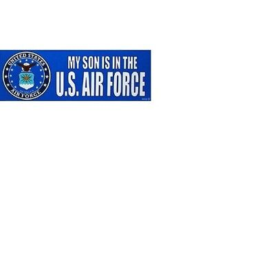 MY SON IS IN THE US AIR FORCE BUMPER STICKER BM0040