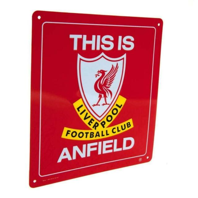 Liverpool Retro Street Sign Anfield LFC Official Licensed Novelty Gift