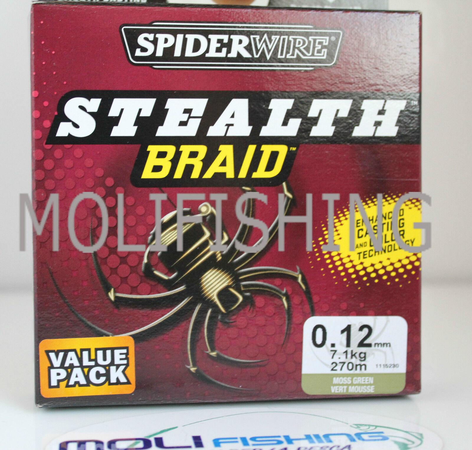 MULTIFIBER BRAID BERKLEY SPIDERWIRE STEALTH MM 0,12 - 7,1 KG - 270 M