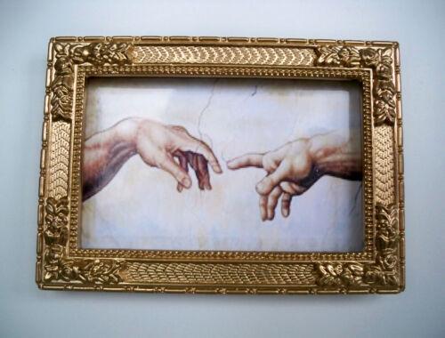 mano di Dio,, MINIATURA-in oro raffinata quadro//casa delle bambole, 1:12 01
