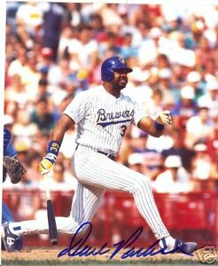 DAVE PARKER  MILWAUKEE BREWERS    SIGNED 8X10