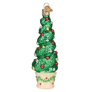 Old-World-Christmas-HOLIDAY-TOPIARY-48040-N-Glass-Ornament-w-OWC-Box