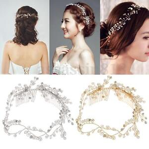 Luxury Crystal Pearl Wedding Bridal Tiara Hair Accessories Tiara Bride Headband