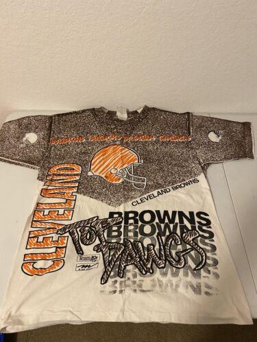 VTG NFL Cleveland Browns All Over Print Magic John