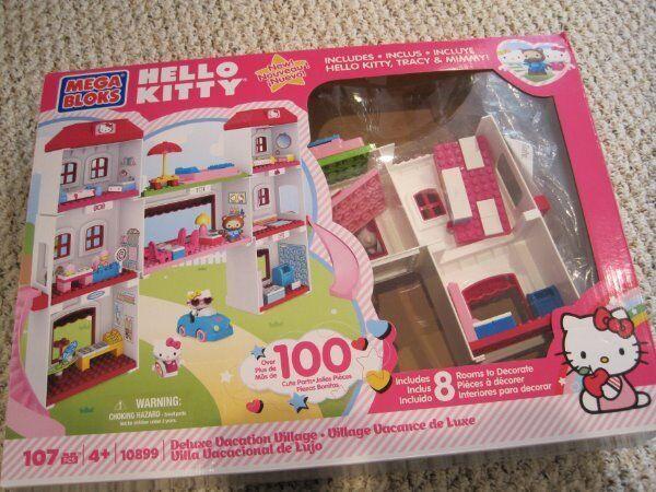 Mega Bloks Hello Kitty Deluxe Deluxe Deluxe Vacation Village building set e24e75