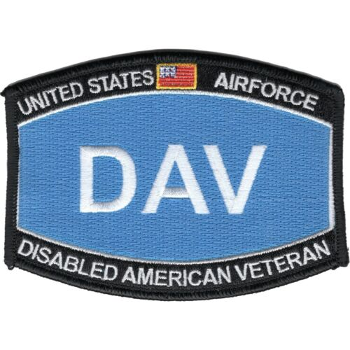 """Air Force DAV Disabled American Veteran Patch 4.5/"""" x 3.25/"""" DS6057"""