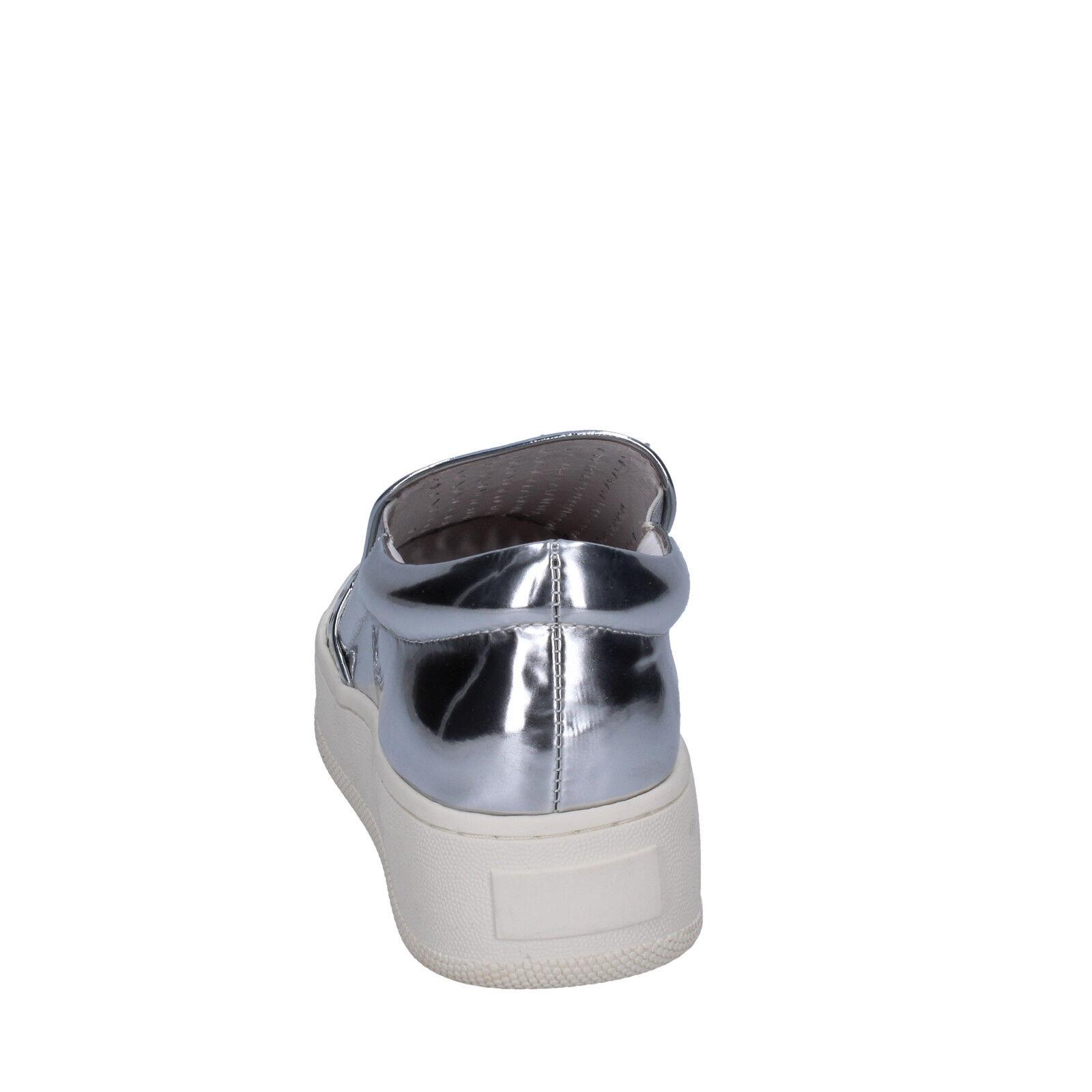 Damens's schuhe UMA PARKER 11 on (EU 41) slip on 11 silver Leder BT564-41 693e4a