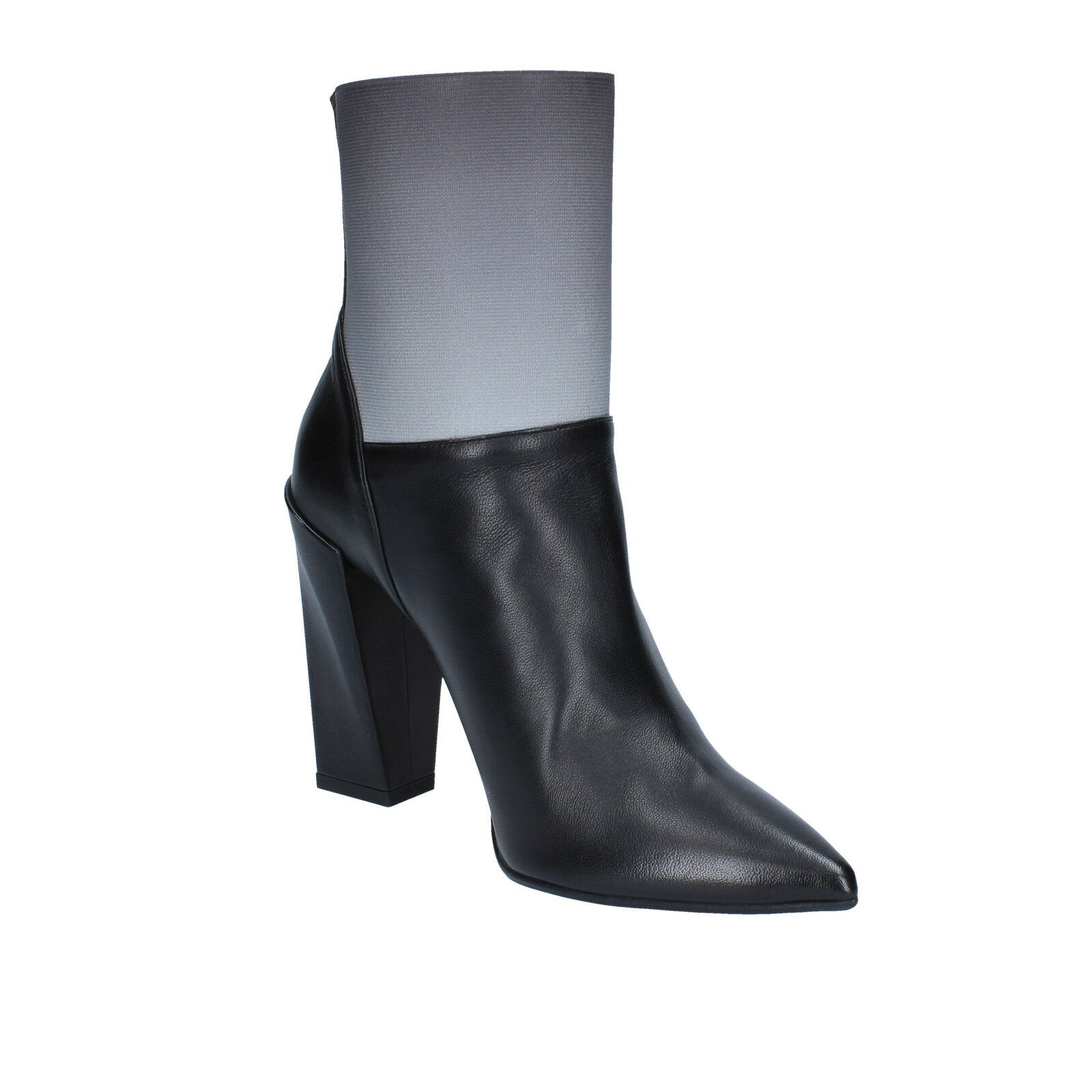 Damen schuhe stiefeletten GIANNI MARRA 36 EU stiefeletten schuhe schwarz grau leder textil BY766-36 7355a0