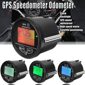 GPS-Navi-Compteur-Vitesse-Kilometrique-Odometre-Noir-Moto-Marine-Bateau-Camion