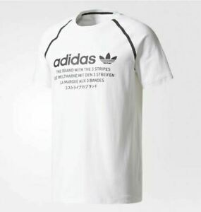 adidas Originals Men's NMD D White Tee Shirt Top CE7249 N W T Large