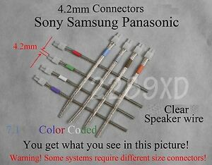 Details about 8c 4.2mm speaker cablewire connectors made for select sonysamsungPanasonic HT