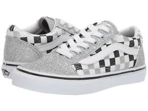 NIB Vans Old Skool Glitter Checkerboard
