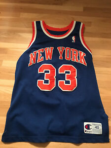 new product 1431f cc1f3 Details about Patrick Ewing 91-92 Champion Jersey New York Knicks Size 40