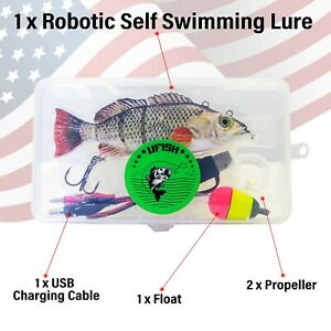 Robotic Live Fishing Lure 15cm//54g Jointed Bait Electric Swimbait USB Wobbler