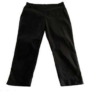 Chicos So Slimming Black Crop Pull On Pants Size 2.5 / Large L