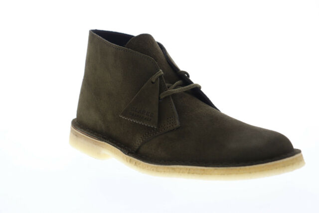 Clarks Desert Boot 26147292 Mens Green Suede Lace Up Desert Boots Shoes