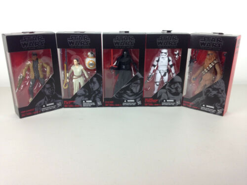 4 3 5 Star Wars: TFA The Black Series 6-Inch Action Figures Wave 1 #1 2