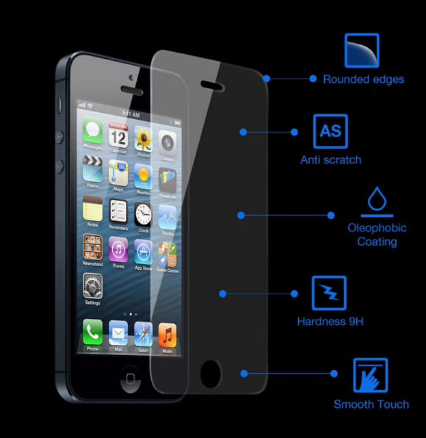 9H Premium Tempered Glass Screen Protector Film for cover case Tablet Phone