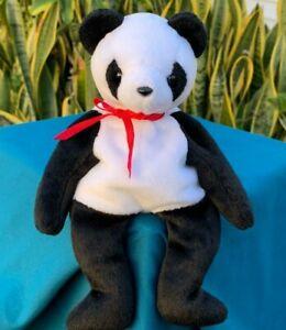 Beautiful-Panda-Bear-Lovey-8-034-SOFT-Plush-Stuffed-Animal-Toy