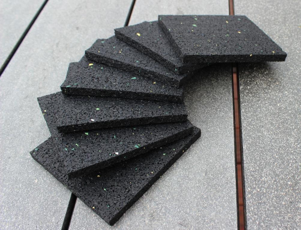 Dachpappen, Dachfolien, Teerpappen Schutz Pad aus Gummigranulat 100x100x8mm