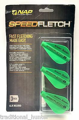 Arrow Fletchings Vanes Nap Speedfletch Green 3-pack Right Wing Offset Good For Antipyretic And Throat Soother